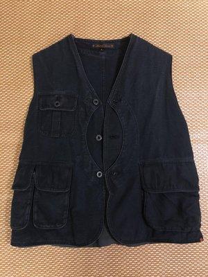 thurs t0360 Game Pocket Vest 狩獵背心 棉麻 sz:L