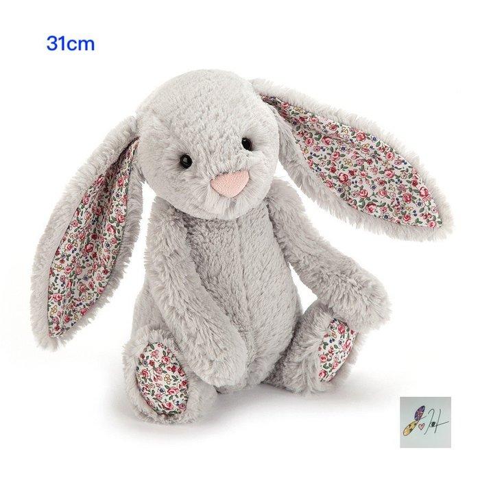 請先詢問[要預購] 英國代購 英國JELLYCAT 灰色花卉兔子玩偶 31cm
