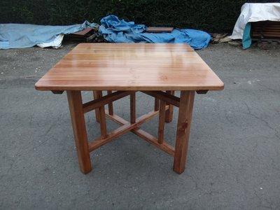 B004 {崙頂傳統原木家具行}~杉木合桌傳統型【接受訂作可染深色】 請先詢問 來來含運價