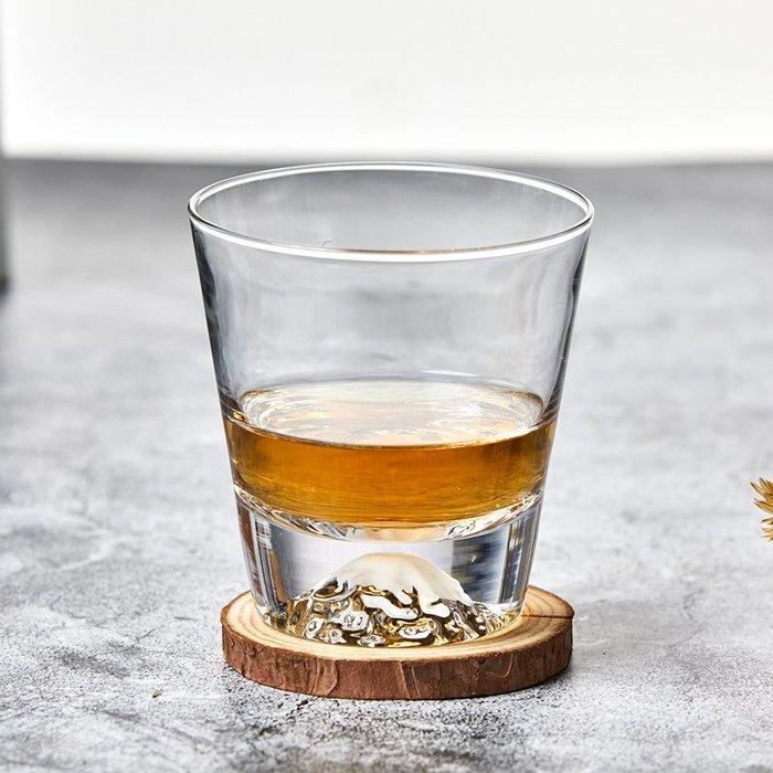 江戶切子富士山手工玻璃杯日本田島硝子雪山杯冰山杯子威士忌酒杯歐式酒杯