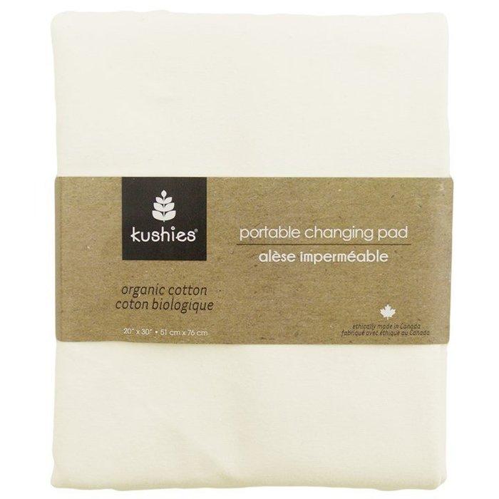 【兔寶寶部屋】Kushies加拿大進口-有機棉防水保潔墊-乳白色51x76cm
