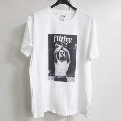 現貨 xxxtentacion filthy 短袖T恤 白色 RIP 相片 歐美 嘻哈 饒舌 RAP HIP 亞洲版型