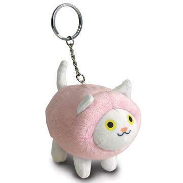 最後出清! Kat 凱特貓鑰匙圈 (白貓綿羊衣),軟綿綿的超Q版凱特貓,天天替你保管鑰匙