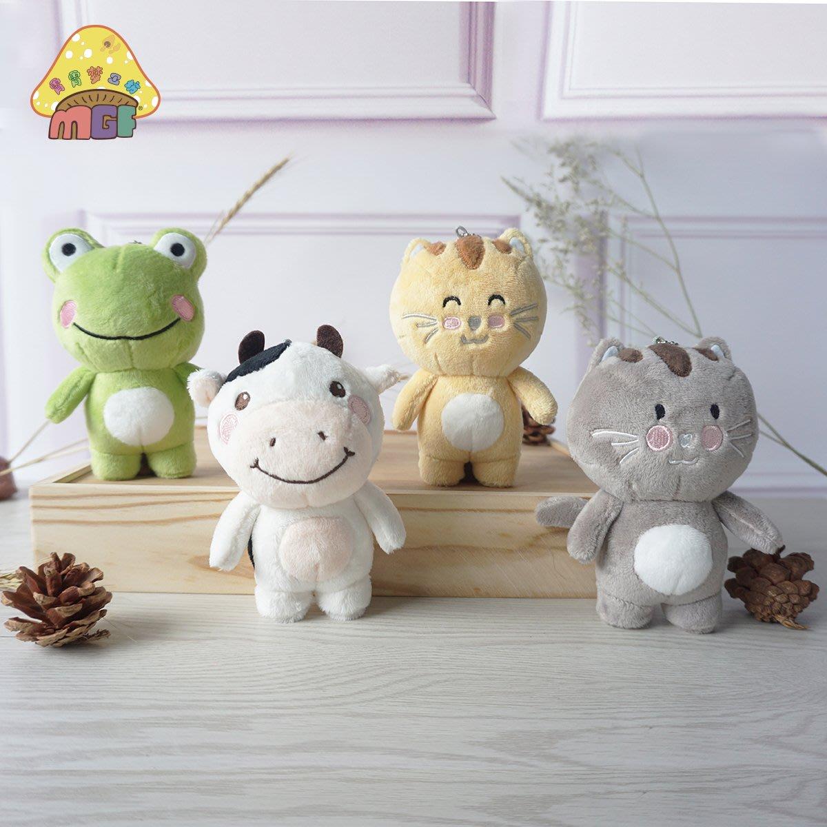毛絨玩具奶牛青蛙貓咪書包掛件開學同學生日禮物禮物毛絨青蛙掛件