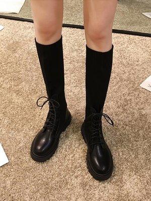 不過膝長靴女2019新款冬季百搭長筒騎士高筒網紅加絨瘦瘦彈力襪靴