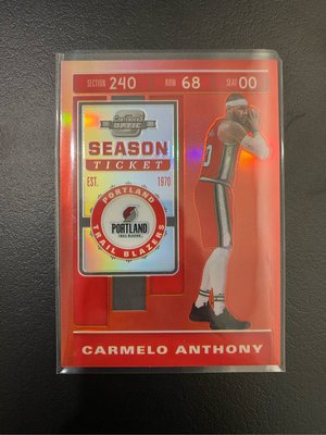 2019 contenders optic Carmelo Anthony #74 球隊配色