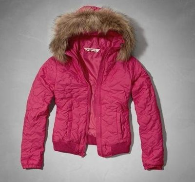 美國abercrombie 女孩quilted heart bomber jacket XL粉色愛心圖案古錐外套含運在台