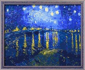 ~·蒂爾傢居生活館~DIY數字油畫(無框畫 藝術畫)~40*50x4龍河的星空~~免運費~