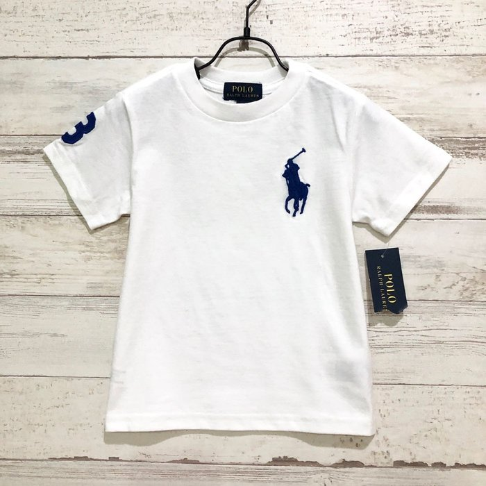 Maple麋鹿小舖 美國購買童裝品牌POLO RALPH LAUREN 男童白色LOGO短T* ( 現貨多尺寸 )
