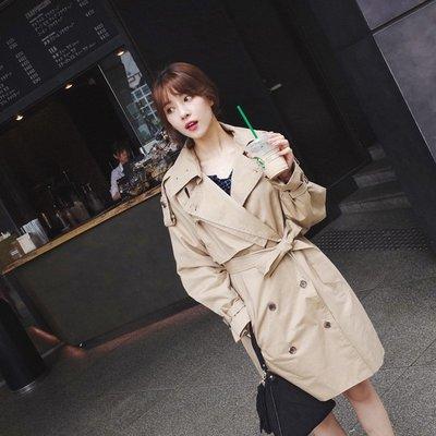 Gssaw.AJ【AZ0968】新款♡韓國西裝領排釦百搭外套♡長版風衣