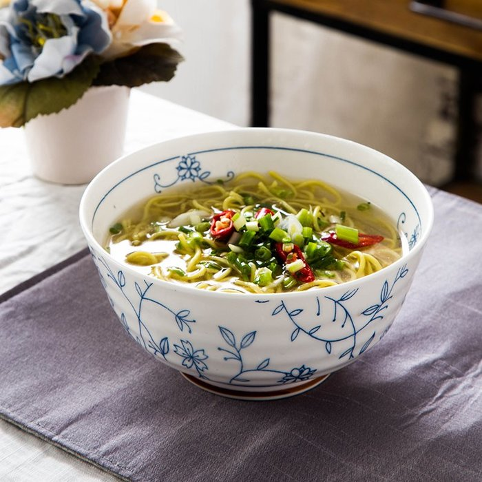 買多件有優惠-陶瓷碗盤碟套裝創意日式好看的吃飯碗家用面碗大碗湯碗餐具(規格不同價格不同)