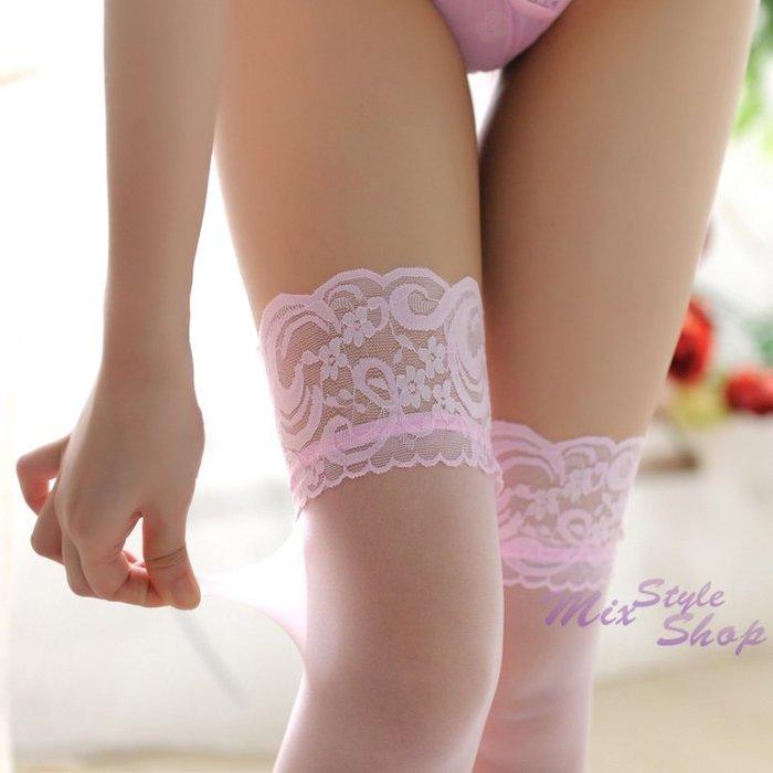 MIX style SHOP【S-395】極限誘惑❤蕾絲花邊時尚彈性長筒絲襪~(7色)
