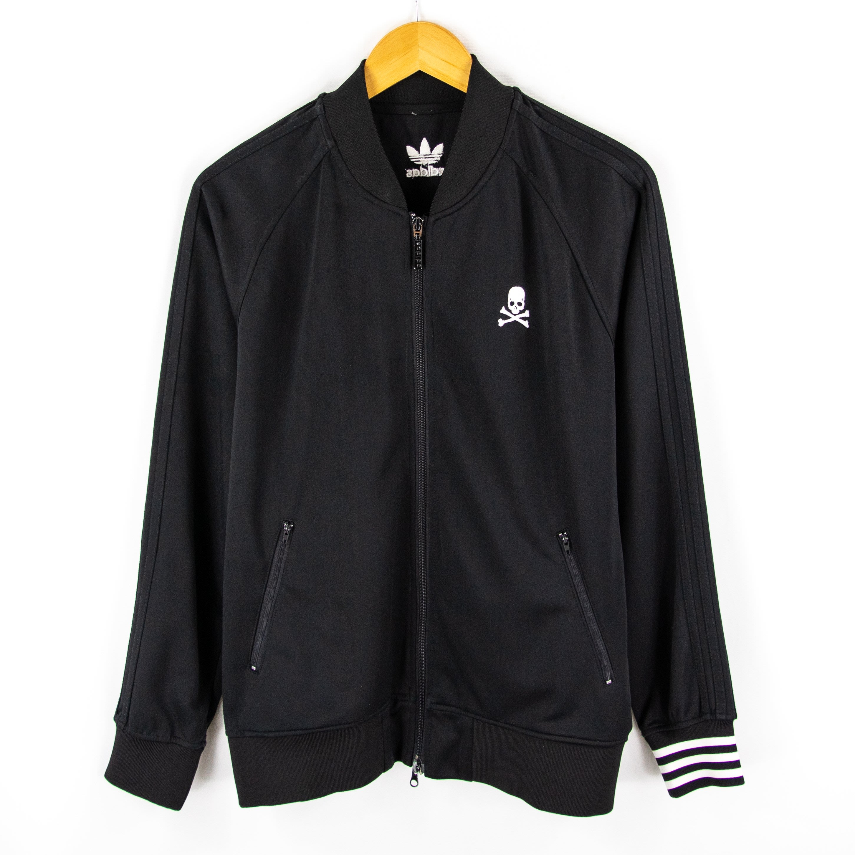 【品牌競區】稀有 Adidas x mastermind 聯名 / 骷髏頭 / 休閒外套 / L號 ~ COA180