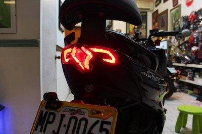 【翰翰二輪】燈匠 Smax 類T-MAX重車尾燈 Tmax尾燈 LED導光條 尾燈組方向燈剎車燈 尾燈總成 燻黑燈殼