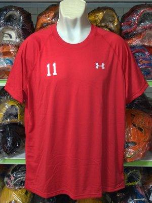 貳拾肆棒球-日本帶回 Under Armour UA訂製版短袖練習衣/heat-gear / XL61*75cm