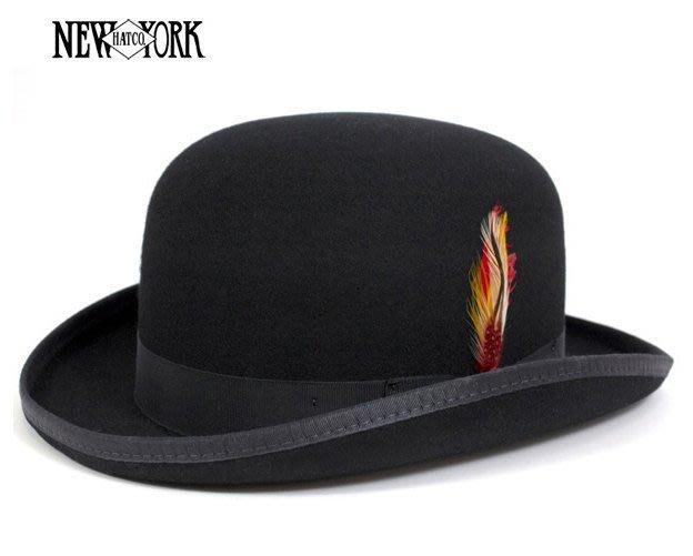 【超搶手】全新正品 經典老牌New York Hat Classic Derby RS5007 羊毛紳士帽 美國製 黑色
