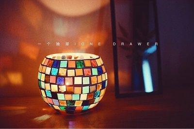 蠟燭材料包「一個抽屜 / One Drawer」摩洛哥風情馬賽克燭臺蠟燭diy材料包   全館免運