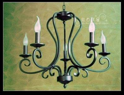 凱西美屋 優美黑色蠟燭五燈 鄉村風蠟燭...