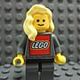 【積木1977】 Lego樂高-亮黃色大波浪捲髮 /長髮/女生頭髮(Bright Light Yellow)(H-08)