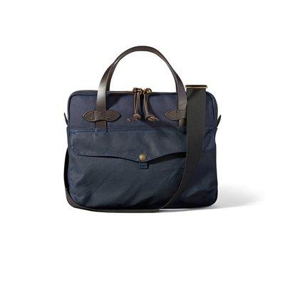 【美國Filson】Tablet Briefcase 海軍藍色公事包 手提包 手提袋 側背包 電腦包 書包 馬轡皮革提把