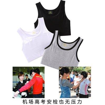 帥tles束胸內衣女縮胸夏季顯胸小塑胸套頭短款運動內衣文胸