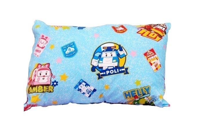 【阿LIN】93AAAB 小童枕 卡通磨毛 波力 救援小英雄 POLI波力枕頭正版授權 台灣製造 可拆洗