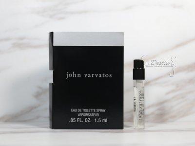 john varvatos 經典同名男性淡香水 1.5ml 可噴式 試管香水 全新