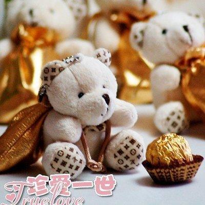 『Truelove 珍愛一世 歐美禮品批發 』╭☆超可愛 adorable 多用途 貴族小熊喜糖袋 ☆╮