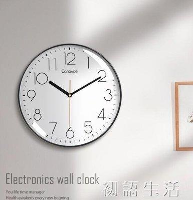 現貨!凱諾時鐘錶掛鐘客廳家用時尚創意靜音免打孔掛墻簡約石英電子時鐘 知木屋小家具 仿古 創意