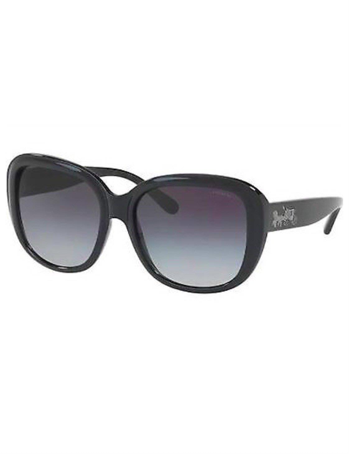 專櫃正品 COACH 太陽眼鏡 HC 8207F (L1645) 542011 Black/Black