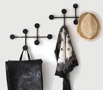 歐式 圓點造型鐵藝掛鈎 牆面衣帽架 簡約造型壁飾掛鉤 多功能掛勾收納掛鉤 玄關衣帽掛鈎 3244A
