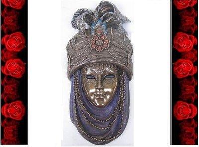 [ Vero 設計 手工彩繪 歌劇院說-伊斯蘭 掛飾 ]-歌劇魅影 歐洲宮廷 威尼斯 嘉年華 面具.