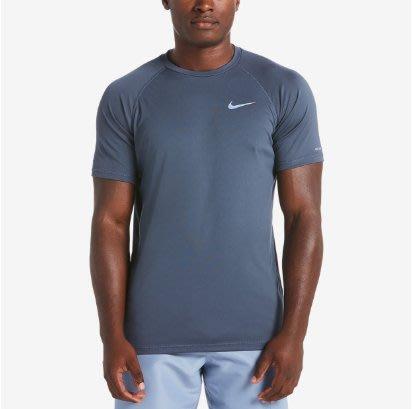 【鞋印良品】NIKE DRI-FIT速乾科技 SOLID 短袖防曬T恤 NESS9531-414 深灰 40+抗UV材質