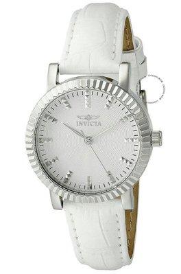 展示品 Invicta 22482 White Summer Angel Silver tone Womens Leather Strap Watch 台中市