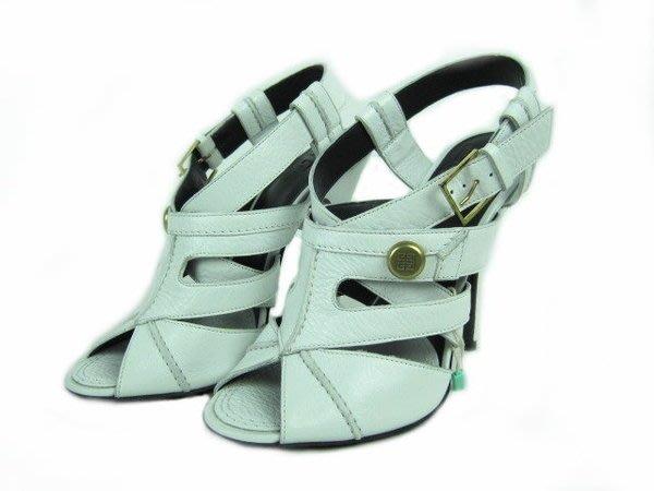 *旺角名店* 全新 Givenchy 白色交叉帶 腳背裝飾 羅馬式高跟涼鞋 vivier rossi [08200303]