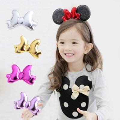 【可愛村】 可愛大耳朵蝴蝶結髮箍 兒童髮飾 髮箍