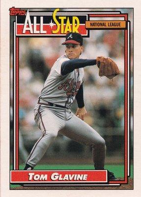 1992 Topps Baseball #395 NL All-Star Pitcher Tom Glavine