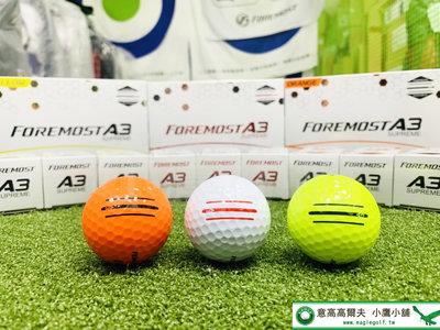 [小鷹小舖] FOREMOST A3SUPREME ENHANCED ALIGNMENT 高爾夫球 中高彈道 白/黃/橘