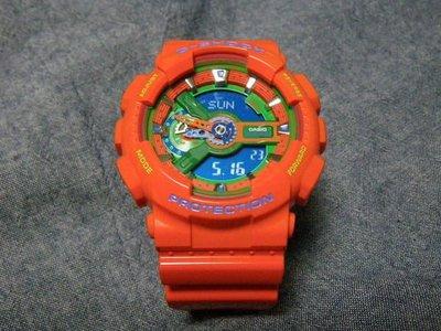 FOCA ☆ CASIO G-SHOCK GA-110A-4DR 日本限定 多層次 Colors 亮面 橘綠 橘色 雙顯錶  大錶 手錶