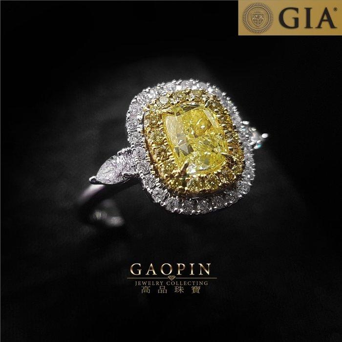 【高品珠寶】GIA 1克拉黃鑽石戒指 女戒  情人節禮物 生日禮物 GIA國際鑑定書 #3305