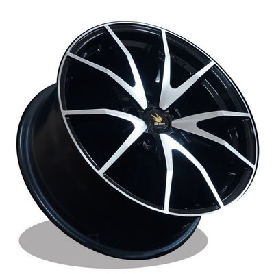 利文輪業 17吋鋁圈 羽式鋁圈 SPIDER 5/100 5/108 5/112 5/114.3 黑底車面