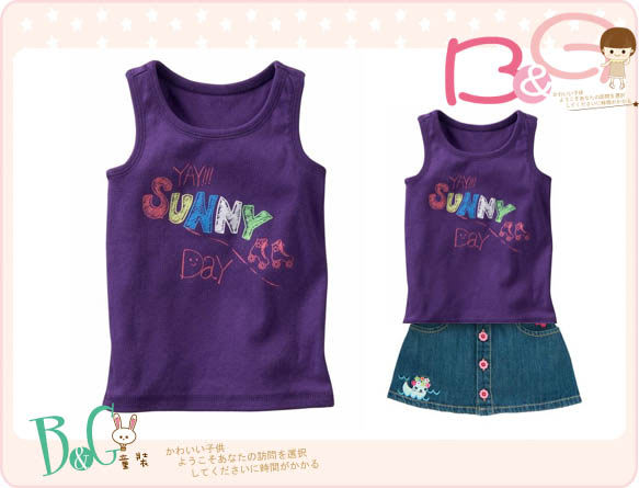 【B& G童裝】正品美國進口GAP紫色SUNNY背心上衣3,4yrs