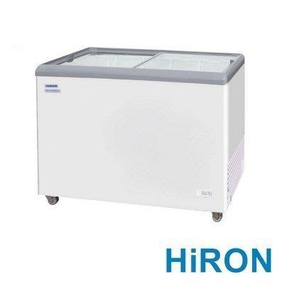 HiRON 海容 【HSD-358】 350公升 弧形玻璃推拉冷凍櫃~運送每一區域~運費另計