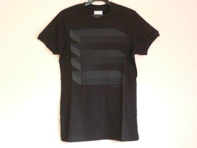 【WATCH OUT 橫亙圖形限定短袖T恤 】黑色 < 100 元起標 >