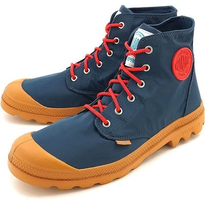 =CodE= PALLADIUM PAMPA PUDDLE LITE+ WP 防水輕量軍靴(深藍紅)76117-482女