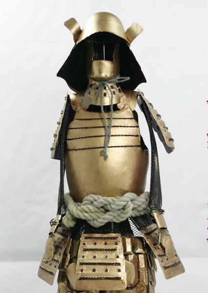 KIPO-餐廳飯店客廳擺飾裝潢日本武士盔甲擺飾立柱-純金色-RHA0141G0A