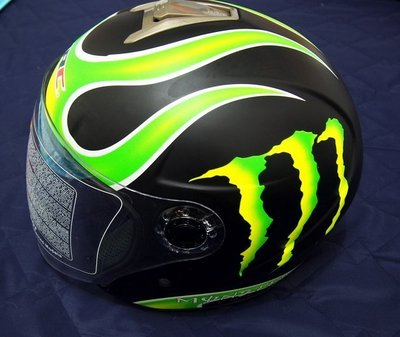 【95% New】Monster 鬼爪 3/4罩安全帽 (消光黑) L / 適用SOL配件