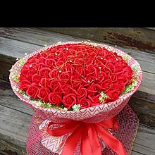 99朵紅色香皂花玫瑰花