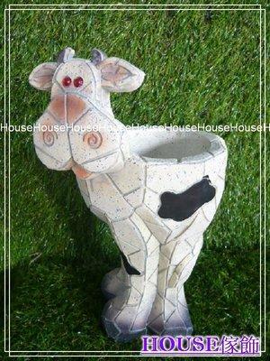 *︵House傢飾︵*馬賽克造型乳牛花器 花盆【☆限量款/新發售☆】