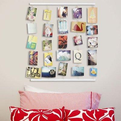 創意晾衣架造型牆式相框 照片牆 裝飾牆框歐式創意組合畫框 展示架